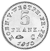 German States WESTPHALIA 4 Pfennig reverse