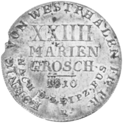German States WESTPHALIA 24 Mariengroschen reverse