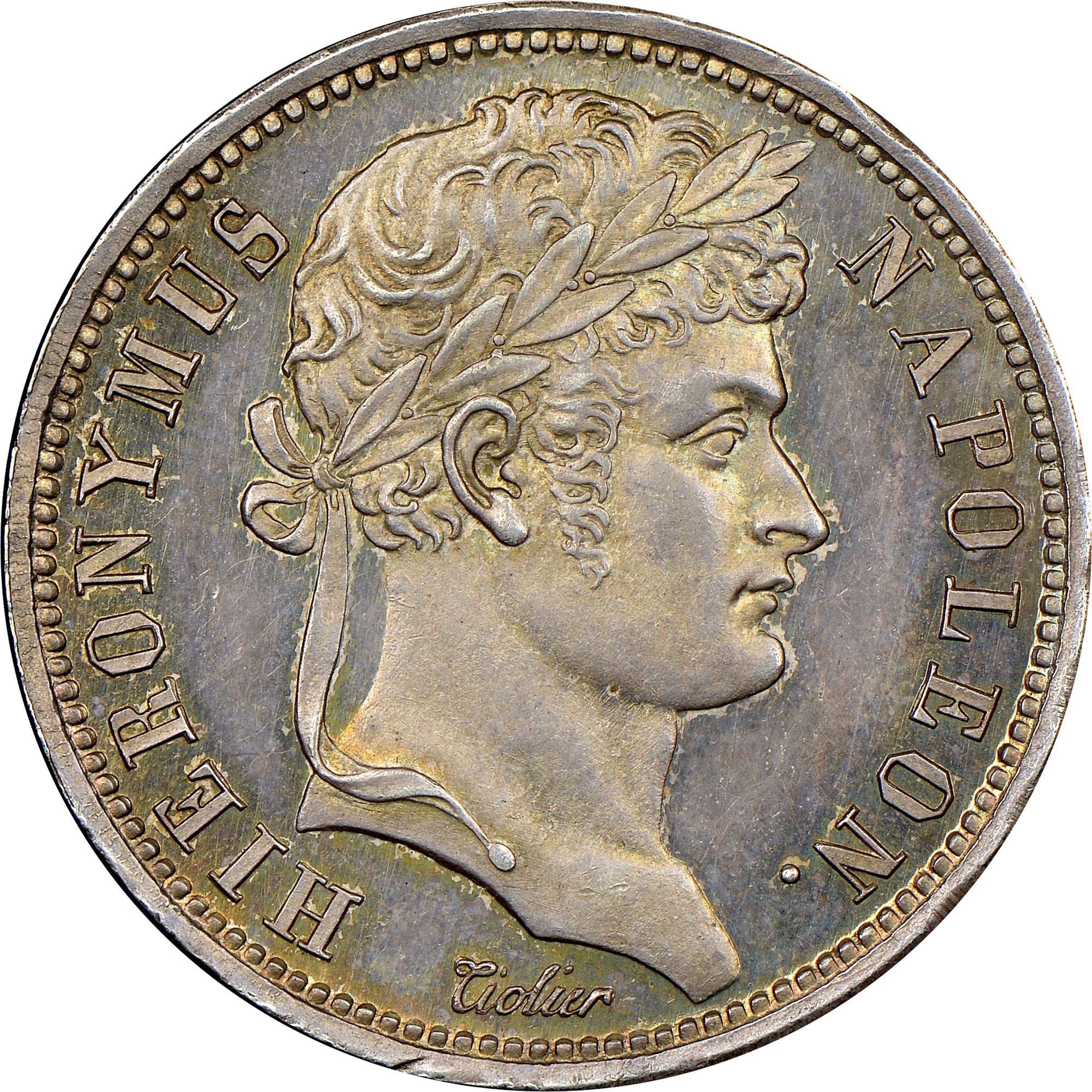 German States WESTPHALIA 2 Franken obverse