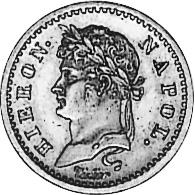 German States WESTPHALIA 10 Franken obverse