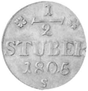 German States BERG 1/2 Stüber reverse