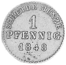 German States BIRKENFELD Pfennig reverse