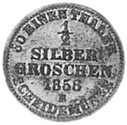 German States BIRKENFELD 1/2 Silber Groschen reverse