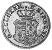 German States BIRKENFELD 1/2 Silber Groschen obverse