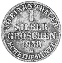 German States BIRKENFELD Silber Groschen reverse