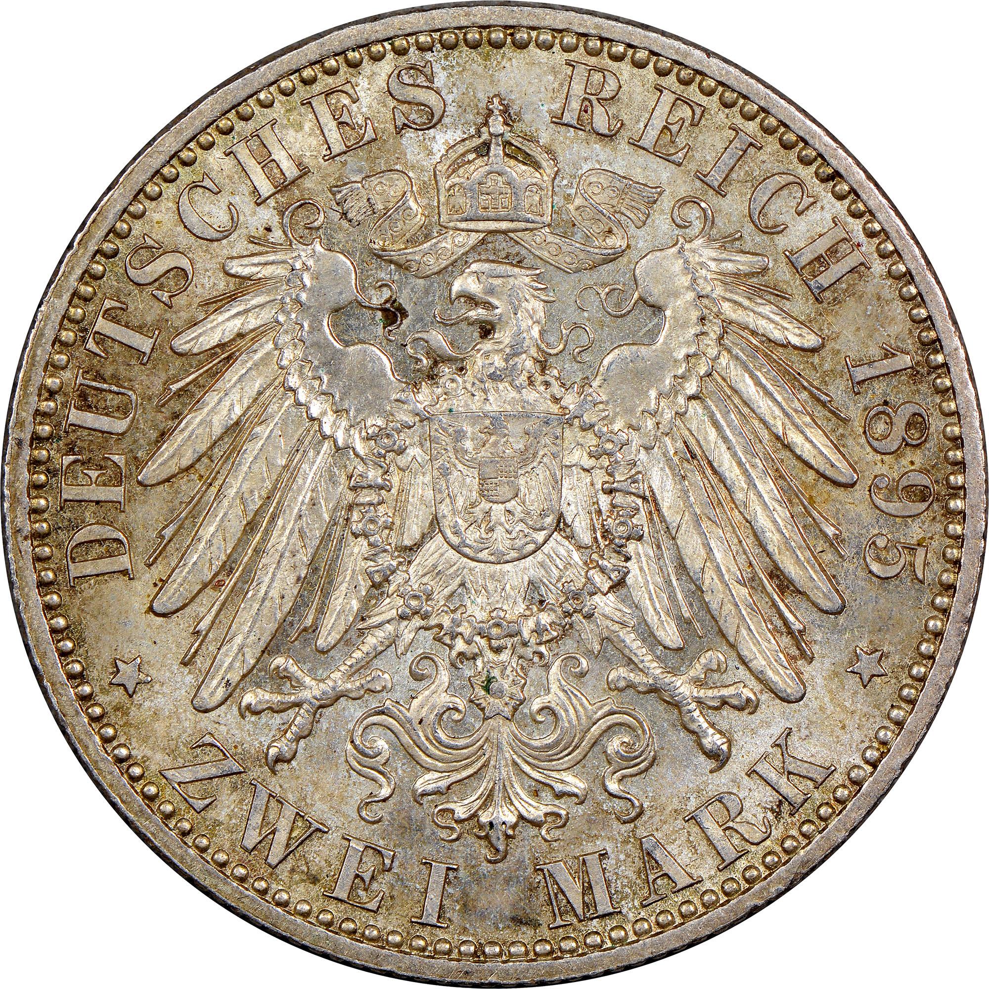 German States SAXE COBURG GOTHA 2 Mark Reverse