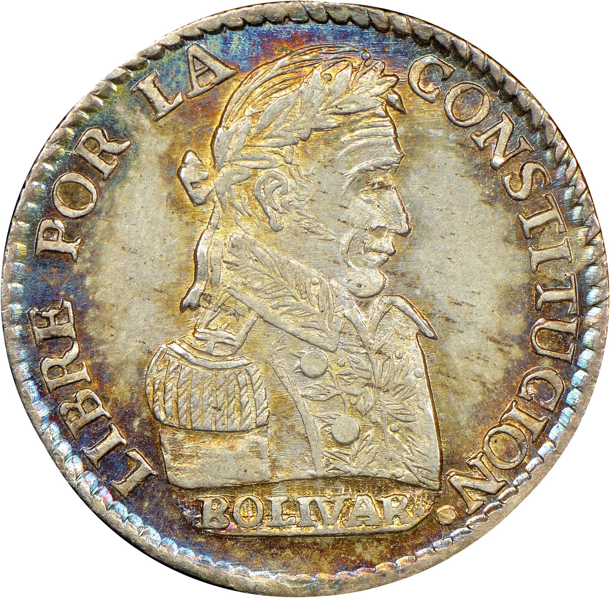 1827-1829 Bolivia Sol reverse