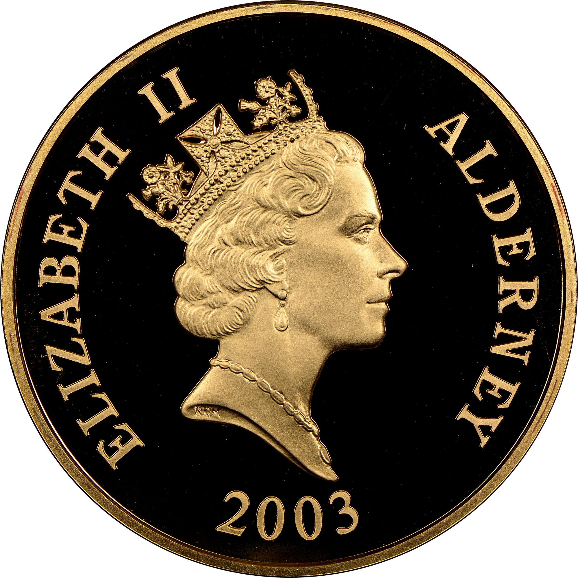 2003 Alderney 5 Pounds obverse
