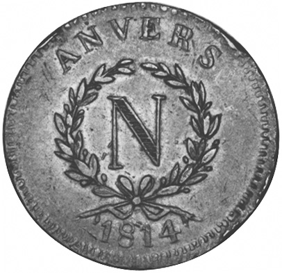 French States ANTWERP 10 Centimes obverse