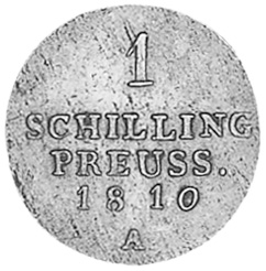 Poland EAST PRUSSIA Schilling reverse