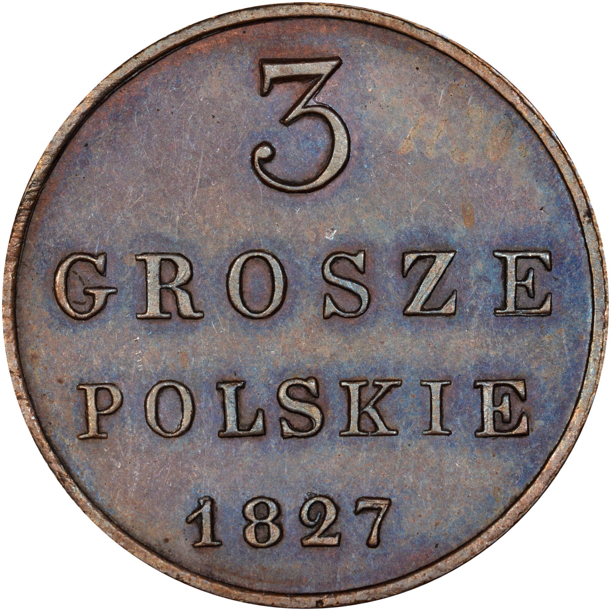 Poland 3 Grosze reverse