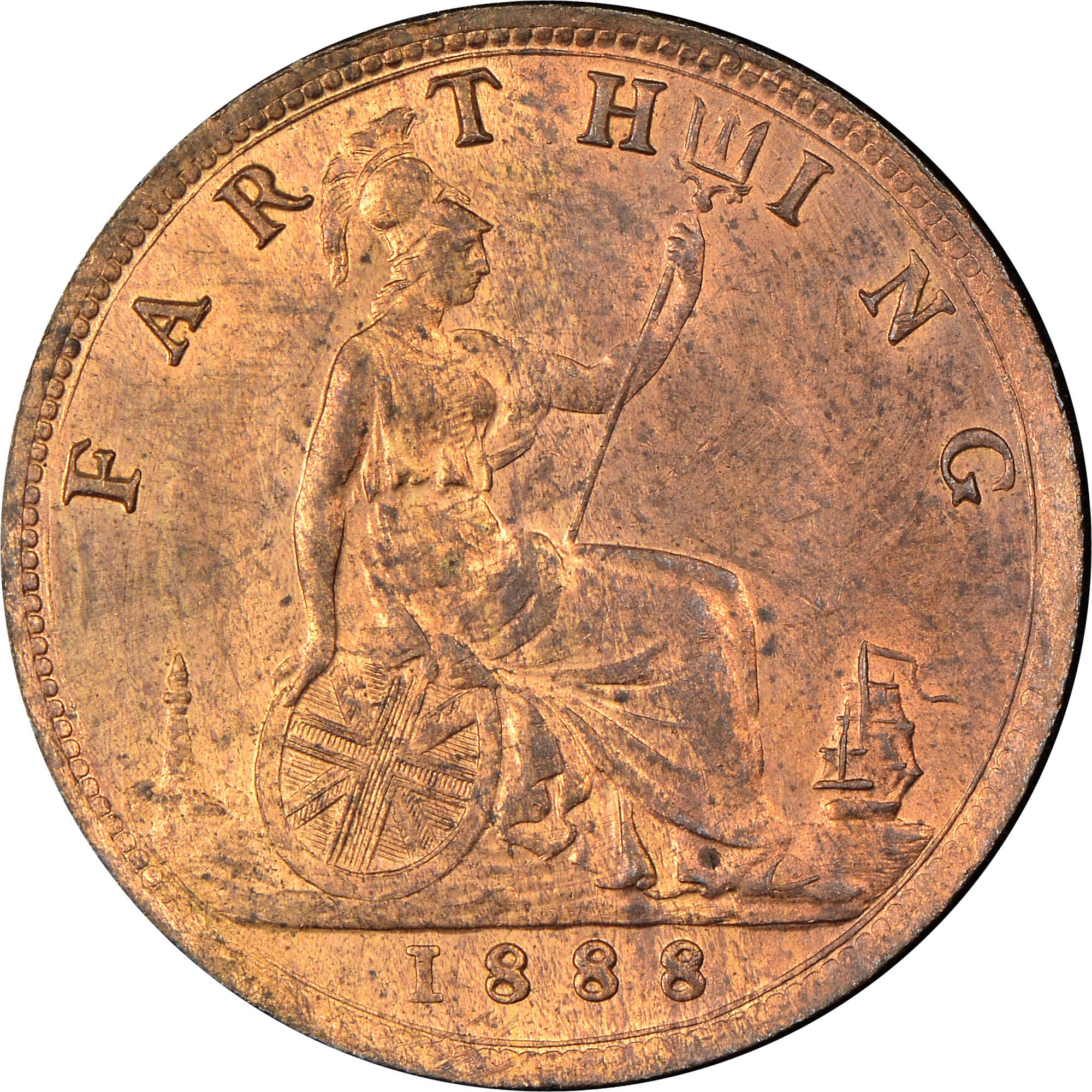 1874-1895 Great Britain Farthing reverse