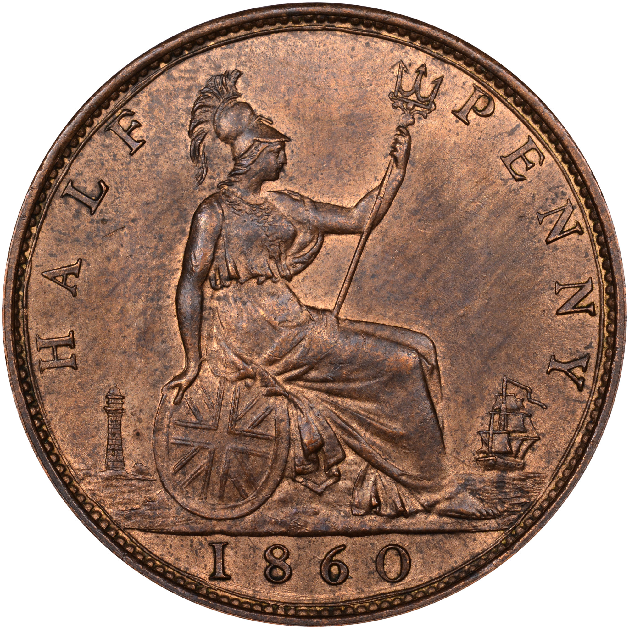 Coin Chart: Great Britain 1/2 Penny KM 748.2 Prices & Values