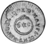 Haiti 6 Centimes reverse