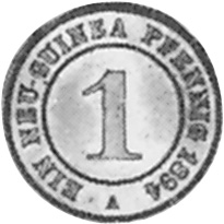 German New Guinea Pfennig reverse