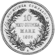 German New Guinea 10 Mark obverse