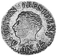 Haiti 12 Centimes reverse