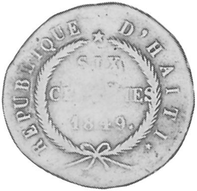 Haiti 6 Centimes obverse