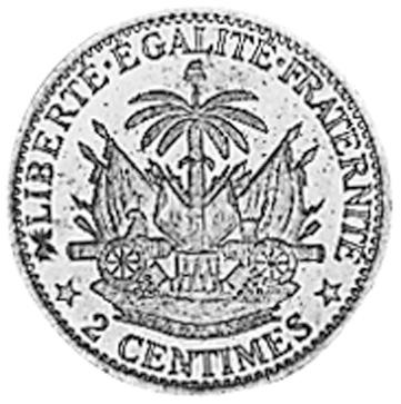 Haiti 2 Centimes reverse