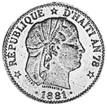Haiti 2 Centimes obverse