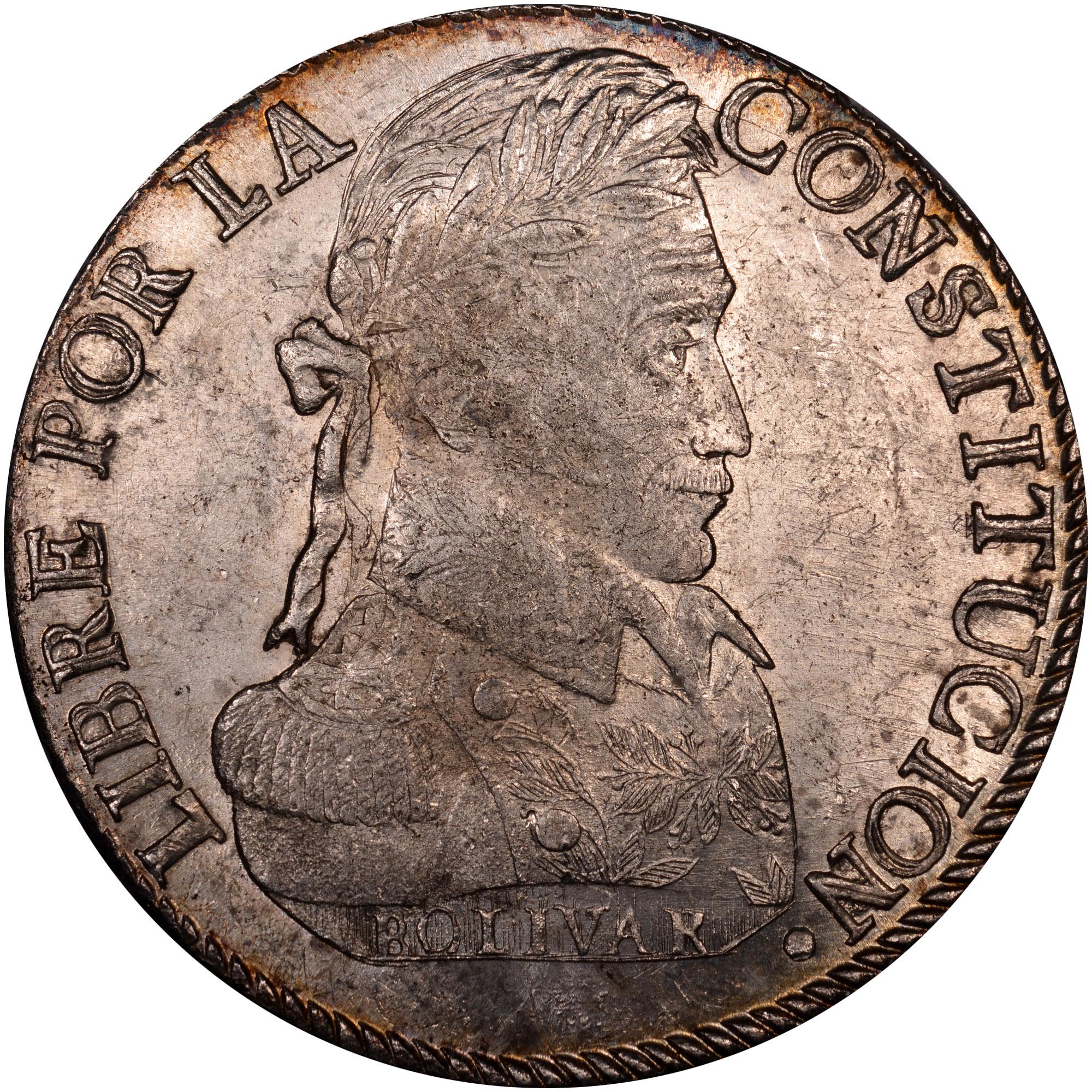 1827-1840 Bolivia 8 Soles reverse