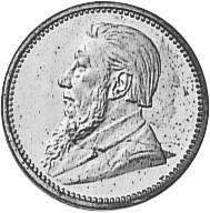 1892-1897 South Africa 3 Pence obverse