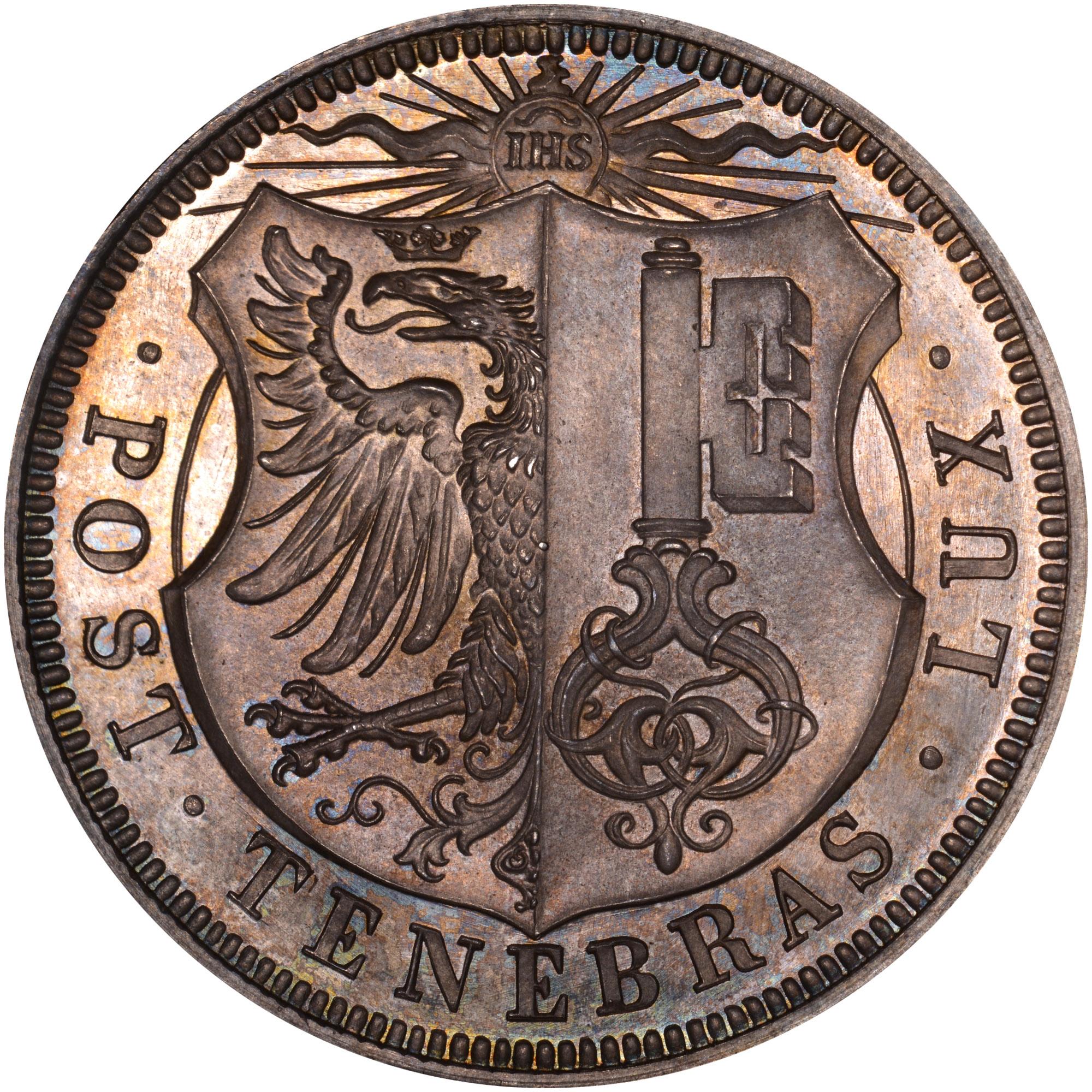 Swiss Cantons GENEVA 5 Francs obverse