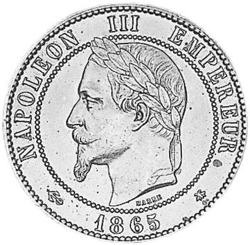 1861-1865 France 10 Centimes obverse