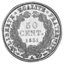 France 50 Centimes reverse
