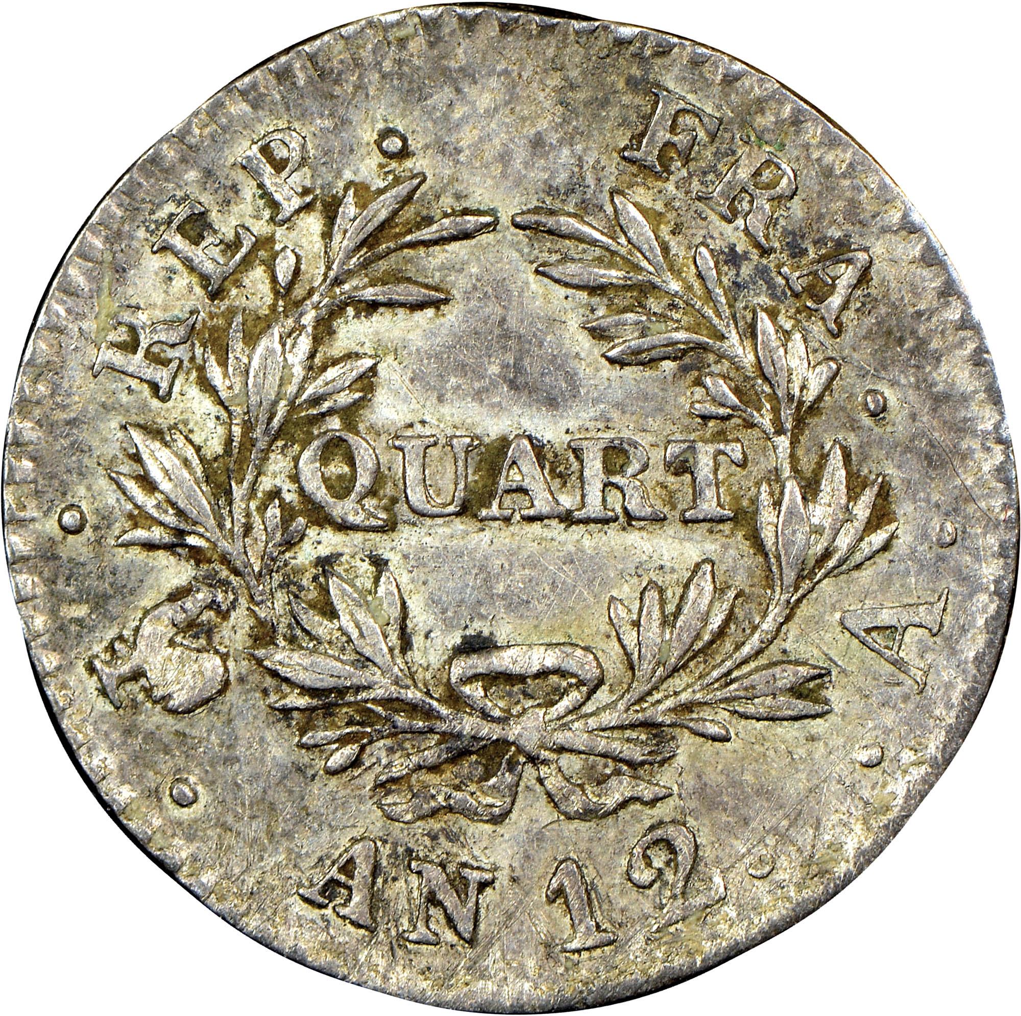 France 1/4 Franc reverse