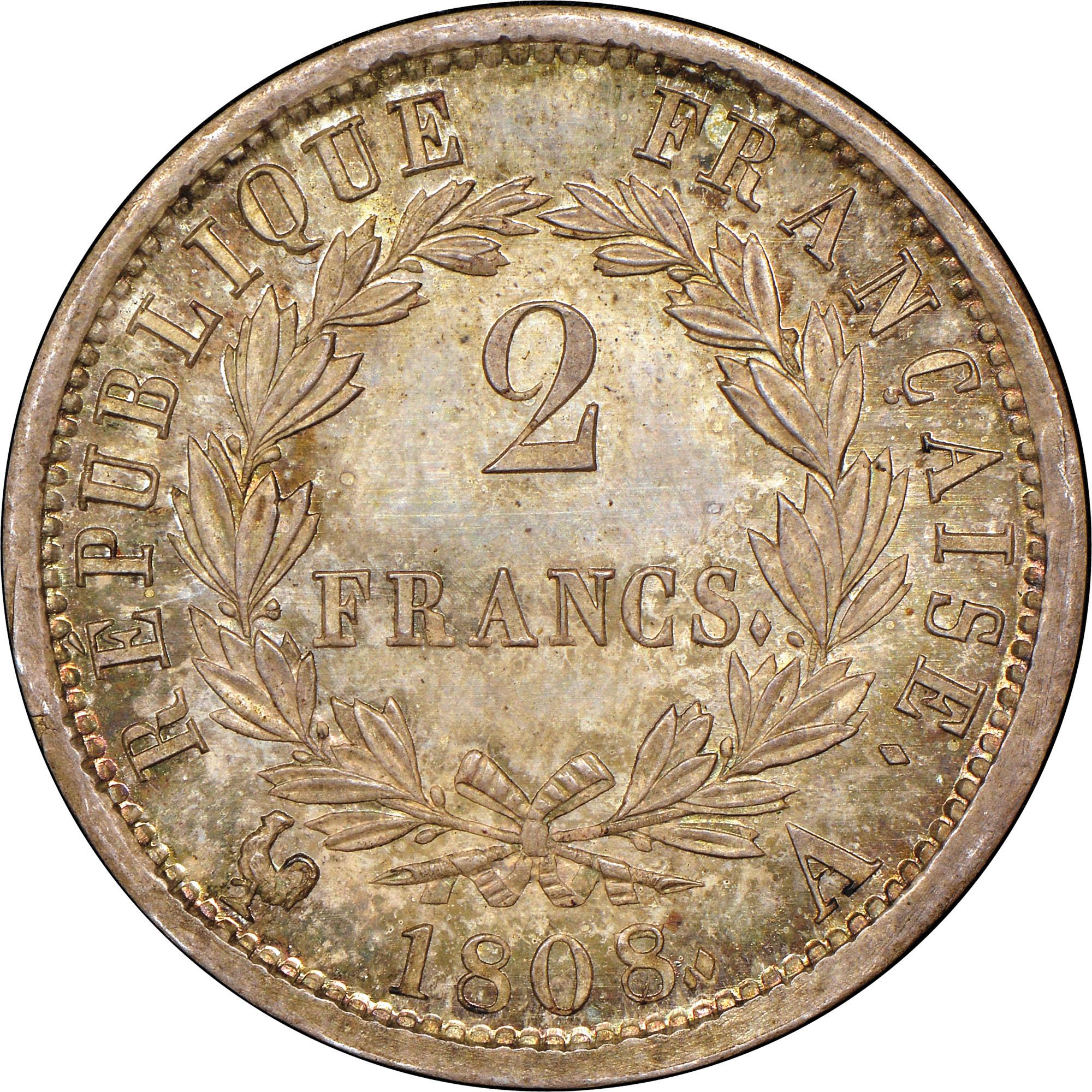 France 2 Francs reverse