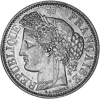 France 2 Francs obverse