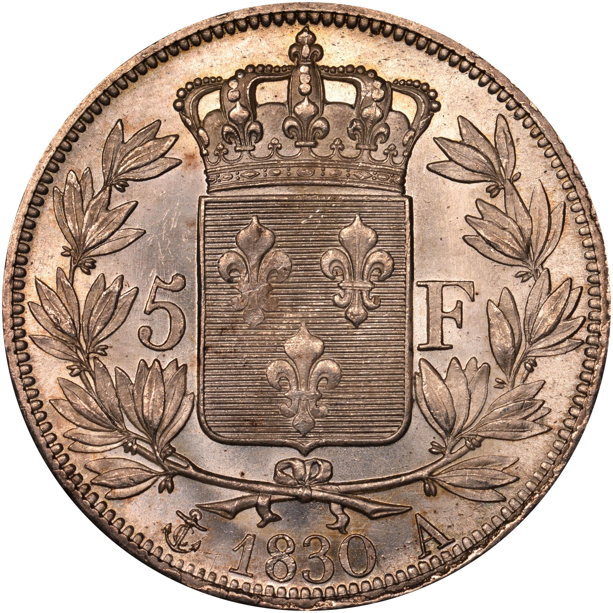 France 5 Francs reverse