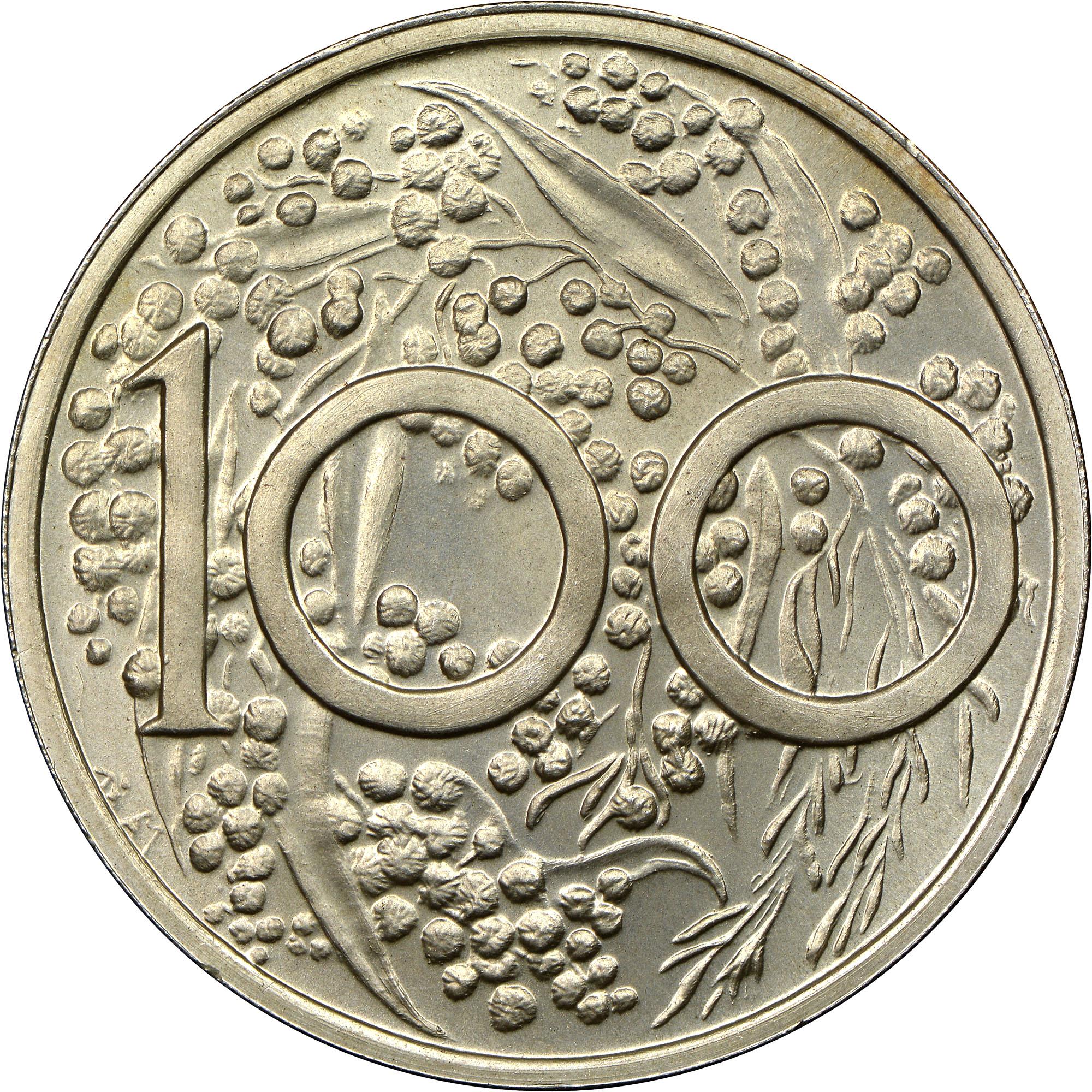 1967 Australia Dollar reverse