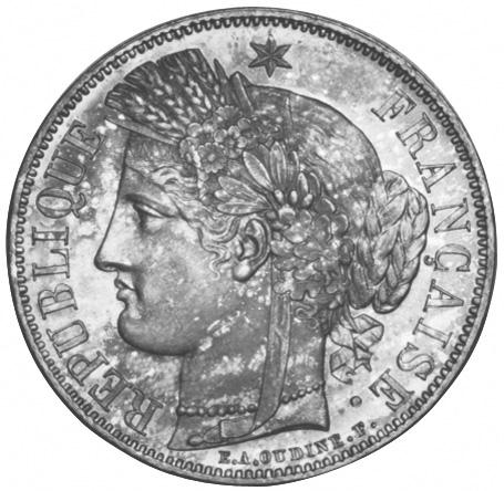 1849-1851 France 5 Francs obverse