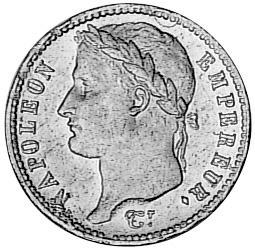 1809-1814 France 20 Francs obverse