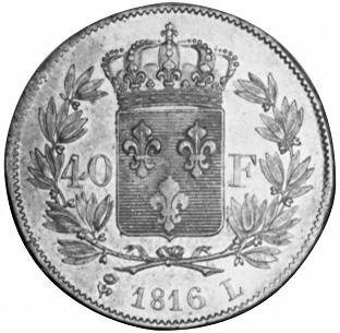 France 40 Francs reverse