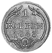 Swiss Cantons SCHWYZ Rappen reverse