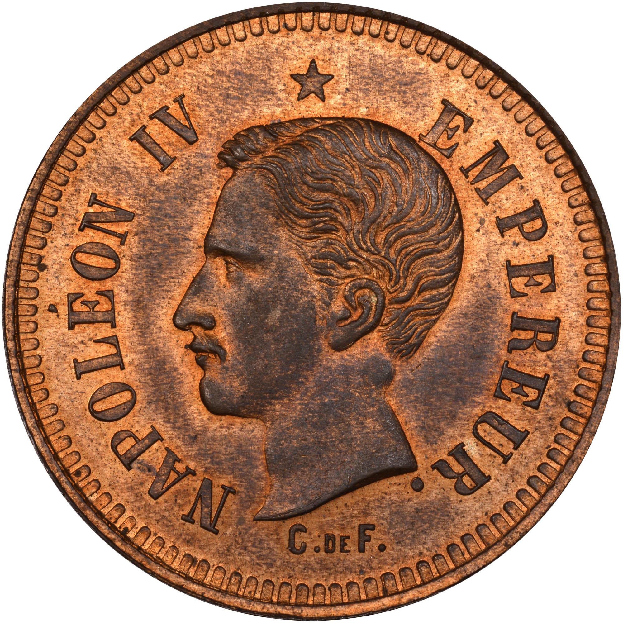 1874 France 10 Centimes obverse