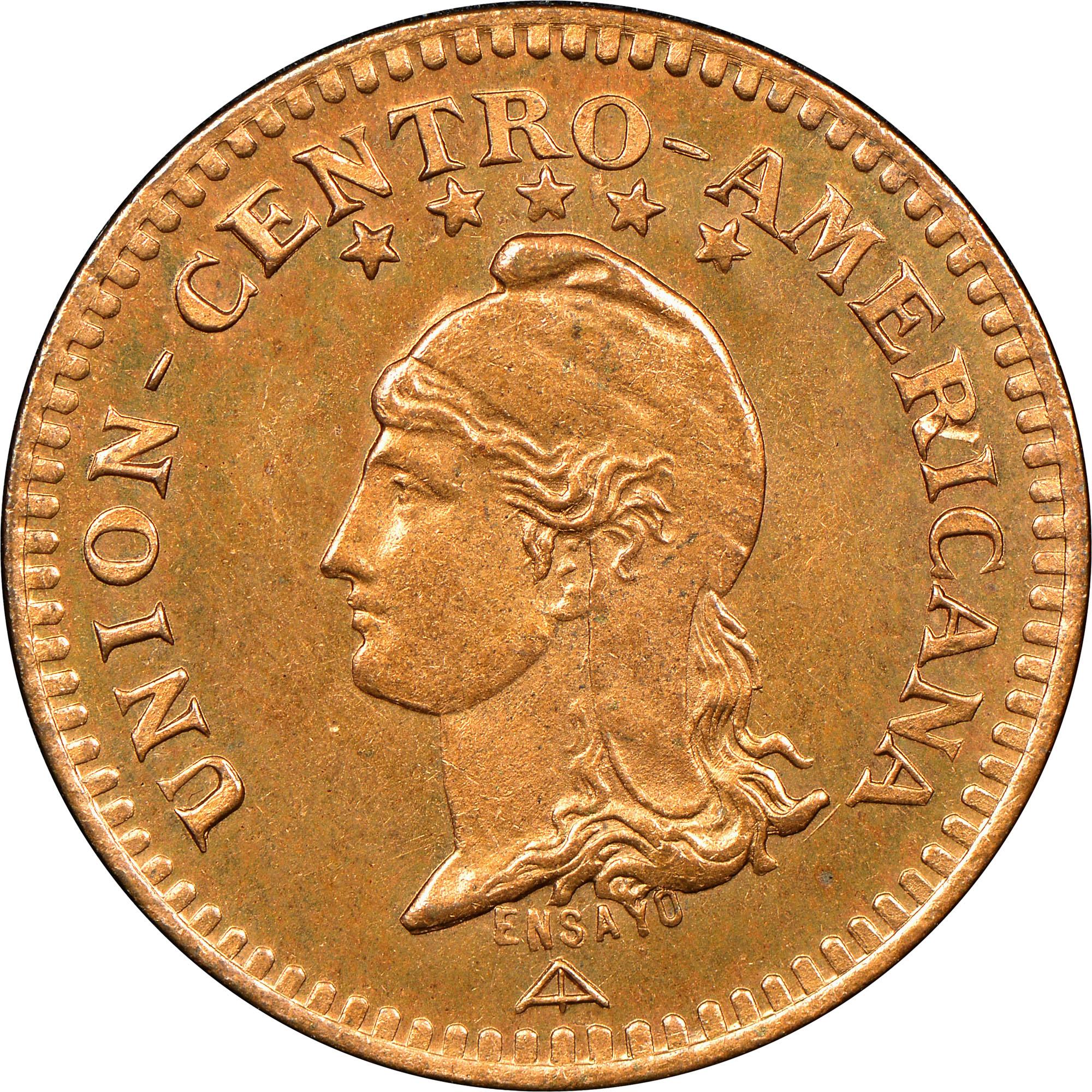 1889 Central American Union Centavo obverse