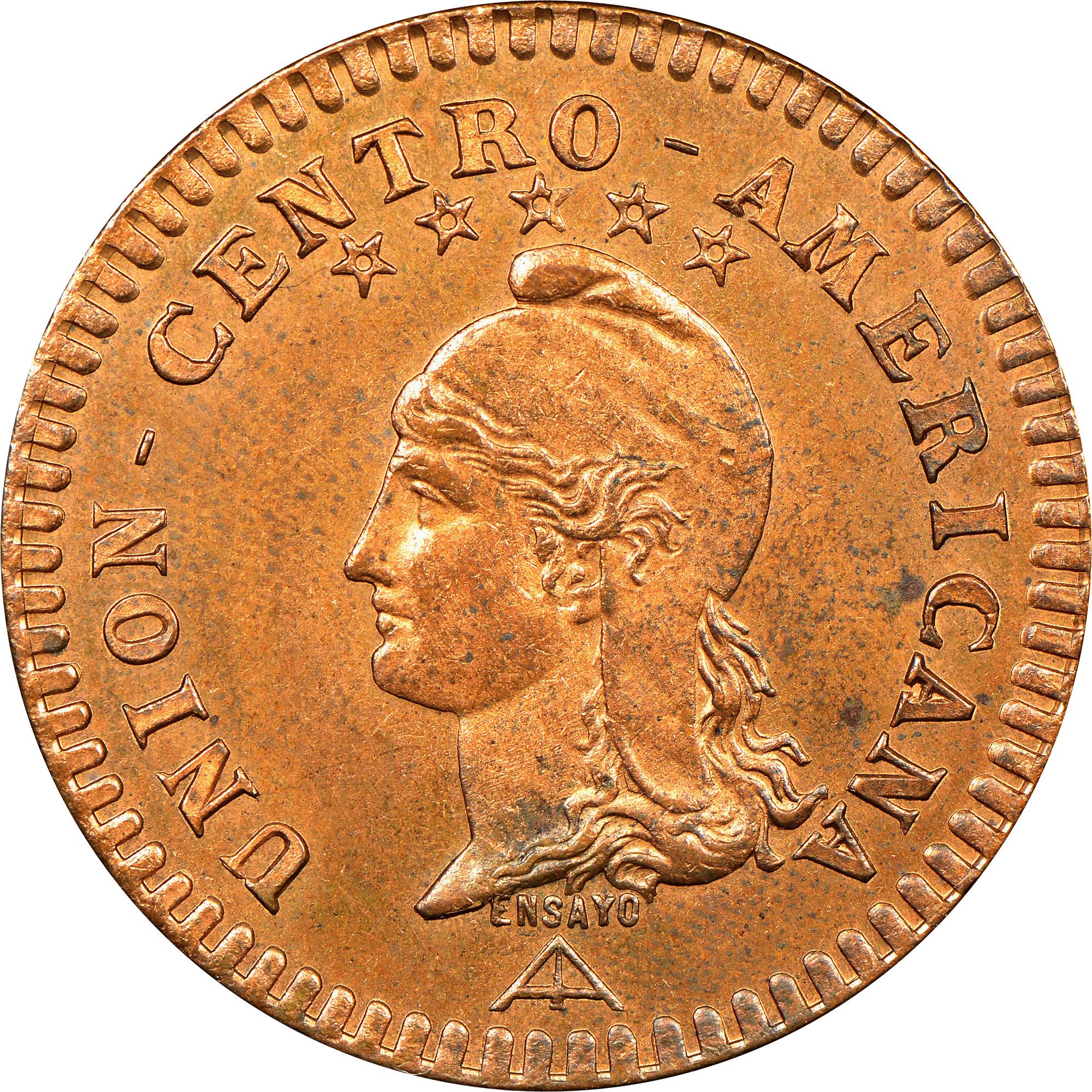 1889 Central American Union 2 Centavos obverse