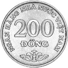 Viet Nam SOCIALIST REPUBLIC 200 Dong reverse