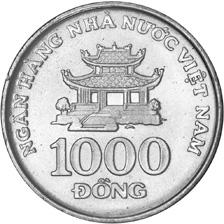 Viet Nam SOCIALIST REPUBLIC 1000 Dong reverse