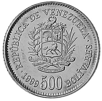 Venezuela 500 Bolivares obverse