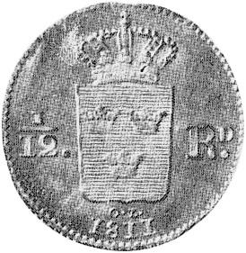 Sweden 1/12 Riksdaler reverse