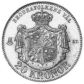 Sweden 20 Kronor reverse