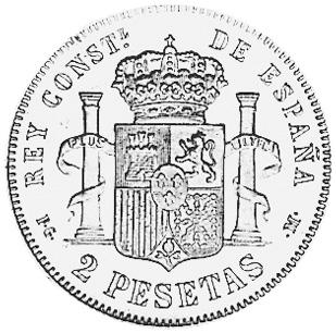 Spain 2 Pesetas reverse