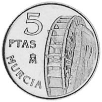 Spain 5 Pesetas reverse
