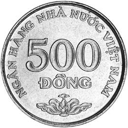 Viet Nam SOCIALIST REPUBLIC 500 Dong reverse
