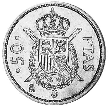 Spain 50 Pesetas reverse